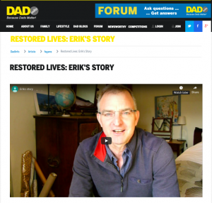Erik's Story a vlog on DAD.info